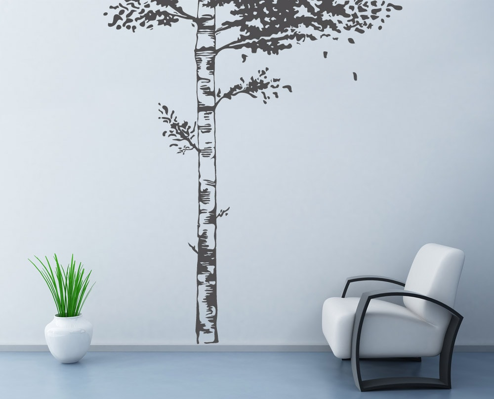 Realistic Birch Tree Wall Decal Wall Stickers For Bedrooms