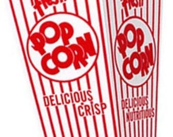 15ct Vintage Movie Popcorn Scoop Boxes