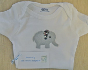 Adorable Baby Elephant Onesie For Baby Shower Or Gift For