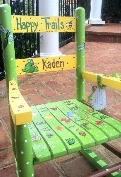 Custom Hand Painted Child S Rocking Chair