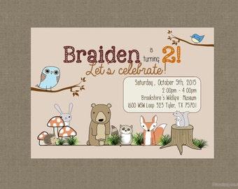 Woodland Critters Invitation: Birthday, Shower