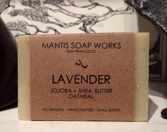 Small Batch Lavender Soap with oatmeal shea butter & jojoba oil All Natural