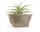 Geometric concrete planter; patio garden yard decor