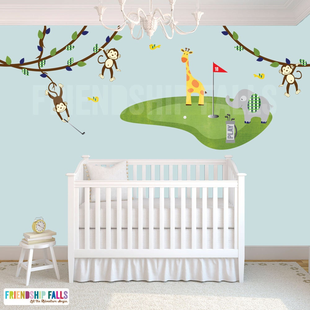 Golf decal mini golf wall decal elephant giraffe nursery zoom amipublicfo Gallery