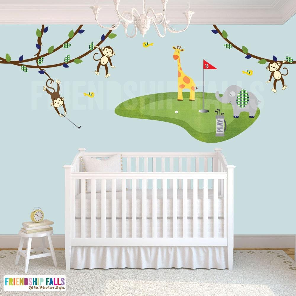 Golf Decal Mini Wall Elephant Giraffe Nursery. Welcome to babyroomdecorideas com