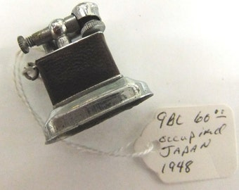 Occupied Japan Cigarette Lighter  Vintage 1948 Miniature Cigarette Lighter - 1948 Miniature Lighter Occupied Japan