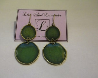 Beautiful handmade enamel earrings