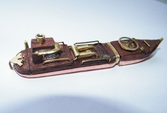 steampunk usb key flash drive 8Go unique piece