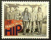 The Tragically Hip Canadian Recording Artists Canada Music -Handmade Framed Postage Stamp Art 13647