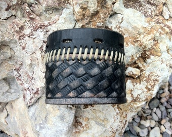 repurposed leather cuff, upcycled leather cuff, mens leather cuff, leather cuff bracelet, leather cuff/C244