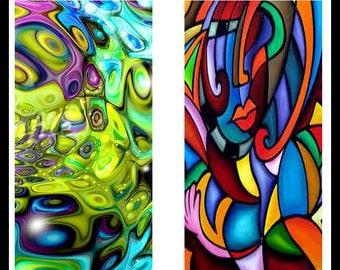 "Digital Download Sheet - Bright Contemporary Designs - Printable Sheet - Dominoe Pendants - Dominoe - Pendants - 1"" x 2"" Rectangle - DDP23"