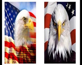 Bald Eagles - Digital Download Sheet - Digital Collage Sheet - Eagle Prints - Scrapbooking - Dominoe Prints - Dominoes - Jewelry - DDP98