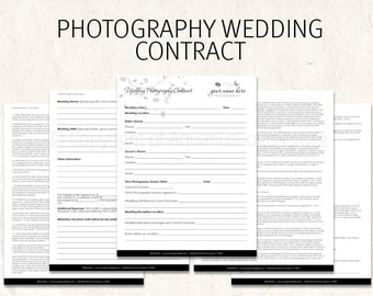 florist wedding contract template - popular items for photography contract on etsy