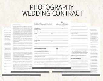 Wedding contract | Etsy