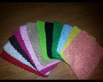 "8"" crochet headbands come in tons of colors"