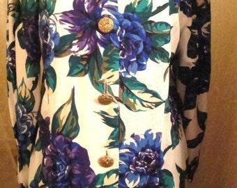 2 Piece Lavender and Blue Floral Dress
