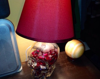 Skull vodka lamp made to order