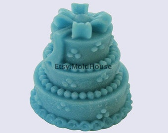 Birthday Wedding Cake 3D Flexible Silicone Mold Silicone Mould Soap Mold Polymer Clay Mold Resin Mold wm112