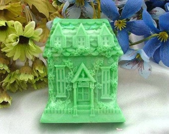 Villa House Flexible Silicone Mold Silicone Mould Candy Mold Chocolate Mold Soap Mold Polymer Clay Mold Resin Mold R0193