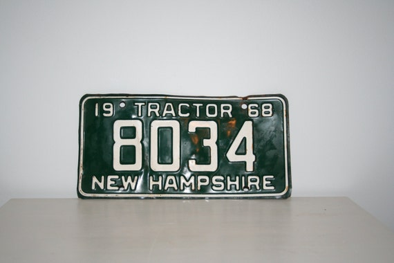 Tractor License Plates : New hampshire tractor license plate by collective