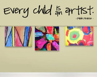 Every Child Is An Artist Etsy Uk
