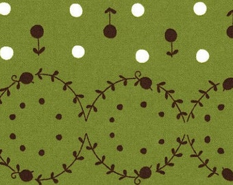 Woodland Collection by Natalie Lymer for Lecien - Green - 1/2 yard