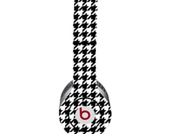 Houndstooth Black and White Beats by Dre Solo Skin  (**NOT HEADPHONES**)