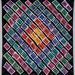 CLEARANCE:  Art quilt. Abstract textile art. Wall hanging. Rainbow of colors. 90x90 in. Geometric quilt. Modern quilt.  Abstract  fiber art.