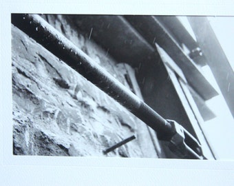 Rain Pipes Black and White Photo Card By Sean O'Donnell Photography