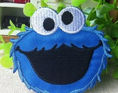 COOKIE MONSTER Logo iron on patch E039