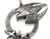 Silver Peregrine Falcon