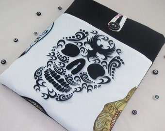 Skull iPad Pro Case,iPad Pro Sleeve,iPad Pro Cover ,iPad Case,İpad Air Case, iPad pro 9 7, Padded with Pocket