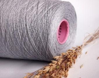 500 g/ 17,5 oz Natural Linen Yarn,Grey Linen, High Quality, Linen Yarn For Crochet, Knitting
