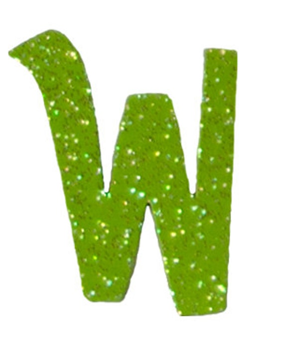Lime Green Letter W