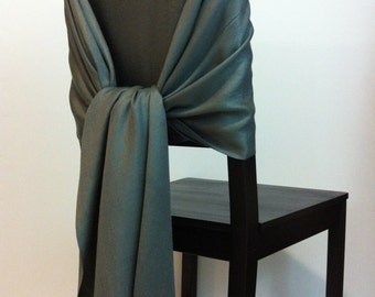 CHARCOAL PASHMINA, Pashmina Scarf, Pashmina Shawl, Wedding Shawl, Pashmina Wrap, Bridesmaid Shawls, Wedding Favors, Charcoal Chair Covers