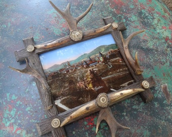 Antler Frame with Picture
