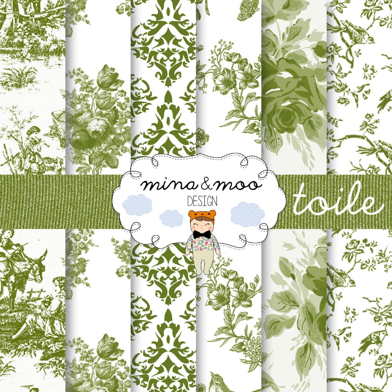 Toile floral digital pattern digital scrapbook paper toile - Toile de verre sans motif ...