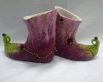 For little princess felted wool slippers for kids