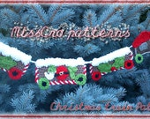 SALE 35% OFF - Black Friday christmas Crochet Pattern - Christmas train decorating banner - Permission to sell finished items