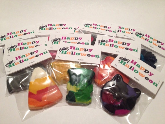 Set of 24 - Halloween Crayons/Single Packaged for Classroom Gifts/Party Favors/Trick or Treat/Candy Alternative