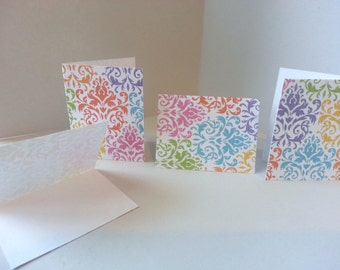 Set of 4 - Colorful Florish/Elegant Tags