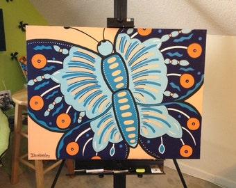 Butterfly canvas art