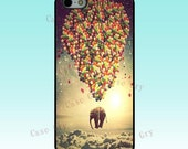 iphone 5 case iphone 5 cover - Elephant and balloons  iphone cover phone case iphone 5 skin - CaseDry
