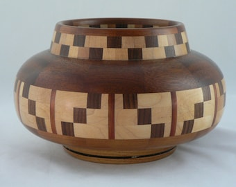 Segmented wood vessel, woodturning, unique