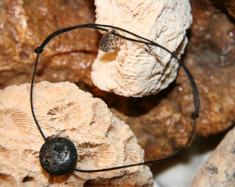 "Bracelet volcano stone ""Seal"" unisex casual design inspired from nature by Sunstone Legend"
