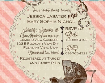 Vintage Shabby Chic Baby Shower Package