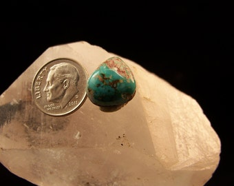Morenci swirling Blue Turquoise cabochon E 103