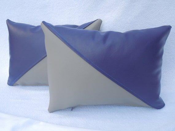 Vinyl Throw Pillows : Items similar to Purple and Gray Vinyl Decorative Throw Pillow Cover.10