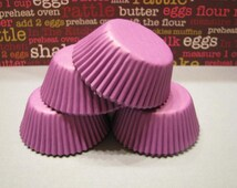 50 Premium MINI Purple Cupcake Wrapper/ MINI Purple Baking Cups/ MINI Purple Cupcake Liners