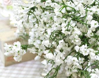 20pcs/lot 1200 heads NEW Bulk single silk babys breath artificial flower home party shop prop floor decoration free shipping NO VASE white